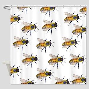 Swarm Shower Curtain