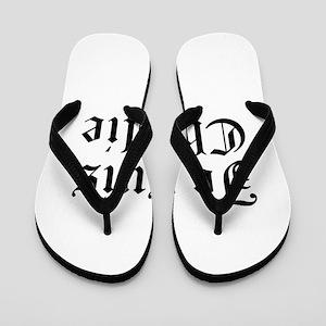 Je suis Charlie-Old black Flip Flops