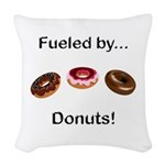 Fueled by Donuts Woven Throw Pillow