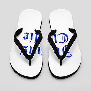 Je suis Charlie-Old blue Flip Flops