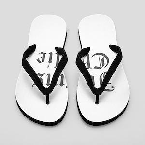 Je suis Charlie-Old gray Flip Flops