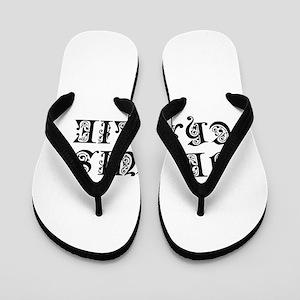 Je suis Charlie-Pre black Flip Flops