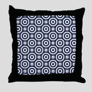 blue Japanese Geometric pattern Throw Pillow