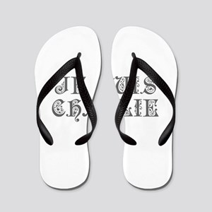 Je suis Charlie-Pre gray Flip Flops