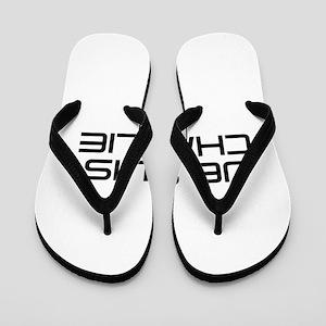 Je suis Charlie-Sav black Flip Flops