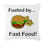Fueled by Fast Food Woven Throw Pillow