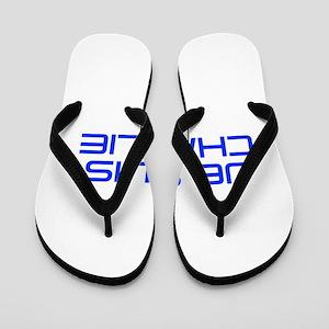 Je suis Charlie-Sav blue Flip Flops