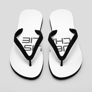 Je suis Charlie-Sav gray Flip Flops