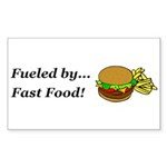 Fueled by Fast Food Sticker (Rectangle 10 pk)