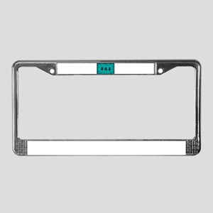 Health Wealth and License Plate Frame