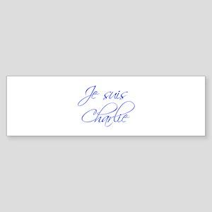 Je suis Charlie-Scr blue Bumper Sticker