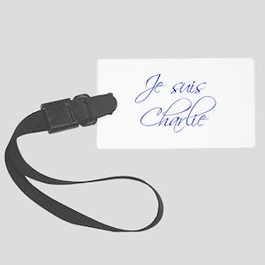 Je suis Charlie-Scr blue Luggage Tag