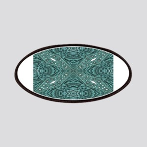 Turquoise tooled leather western cowgirl Patches