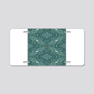 Turquoise tooled leather we Aluminum License Plate