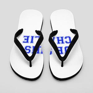 Je suis Charlie-Var blue Flip Flops