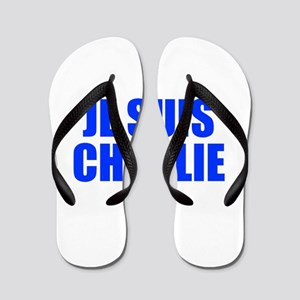 Je suis Charlie-Imp blue Flip Flops