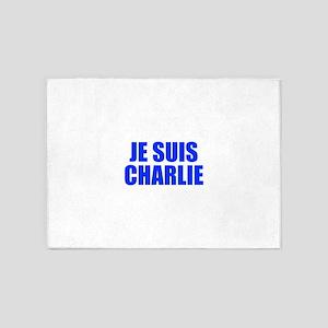 Je suis Charlie-Imp blue 5'x7'Area Rug