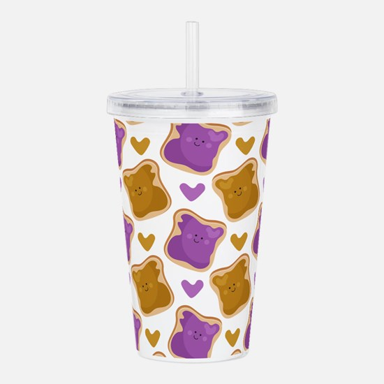 Kawaii PBJ Pattern Acrylic Double-wall Tumbler