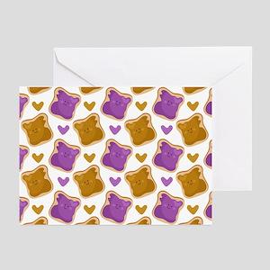 Kawaii PBJ Pattern Greeting Cards (Pk of 20)