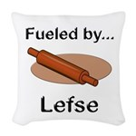 Fueled by Lefse Woven Throw Pillow
