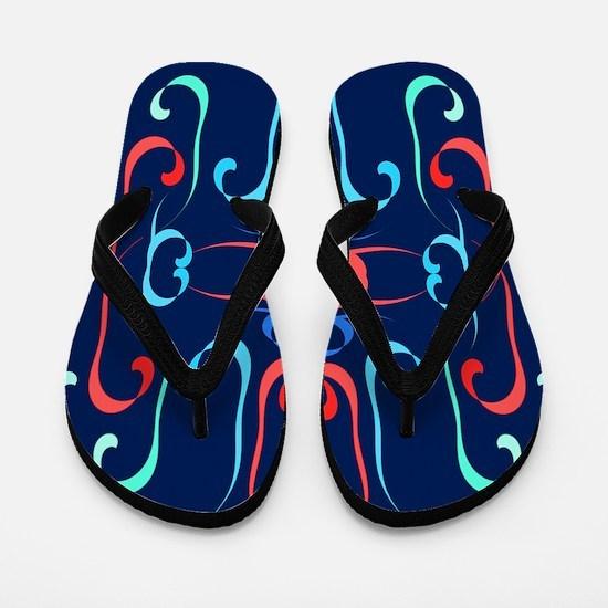 Elegant Streamers Flip Flops