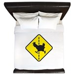 Chicken Road Crossing King Duvet