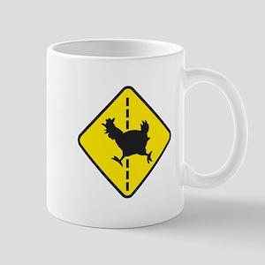 Chicken Road Crossing Mugs