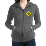 Chicken Road Crossing Women's Zip Hoodie