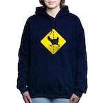Chicken Road Crossing Women's Hooded Sweatshirt