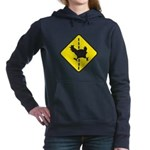 Chicken Road Crossing Women's Hooded Sweatshirt