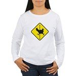 Chicken Road Crossing Long Sleeve T-Shirt