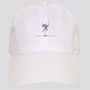 Run - Drink Wine Baseball Cap