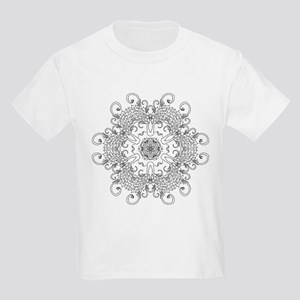 Leaves and Whirls Zen Mandala T-Shirt