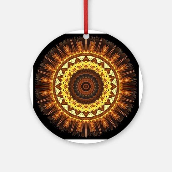 del Sol Mandala Ornament (Round)
