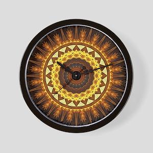 del Sol Mandala Wall Clock