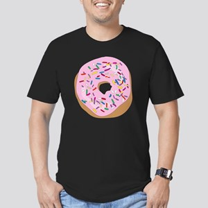 Pink Donut with Sprink Men's Fitted T-Shirt (dark)