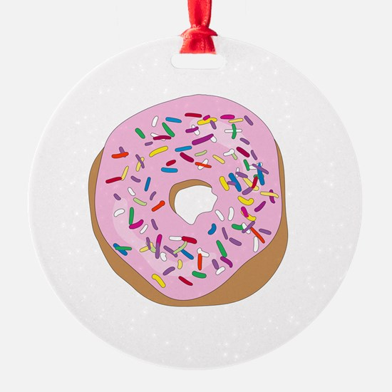 Pink Donut with Sprinkles Ornament