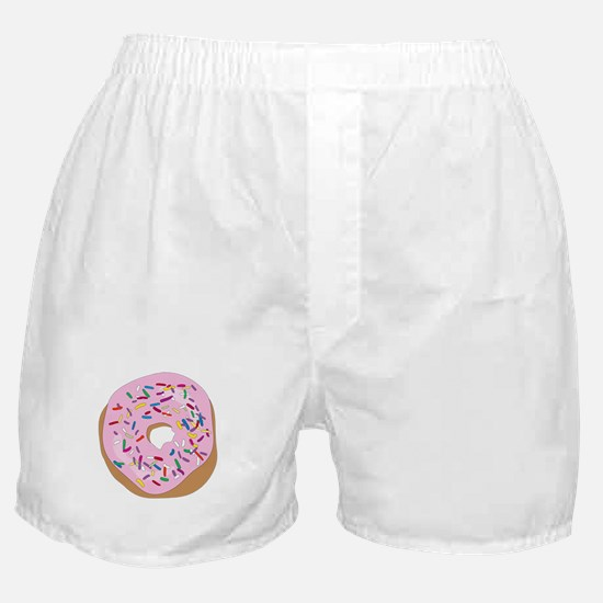 Pink Donut with Sprinkles Boxer Shorts