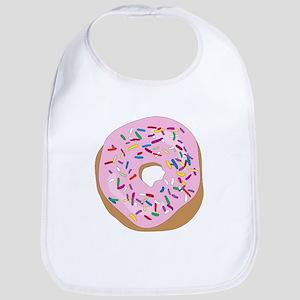 Pink Donut with Sprinkles Bib