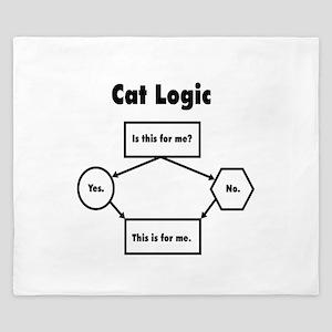 Cat Logic King Duvet