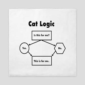 Cat Logic Queen Duvet