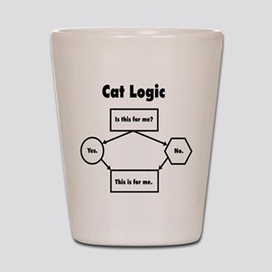 Cat Logic Shot Glass