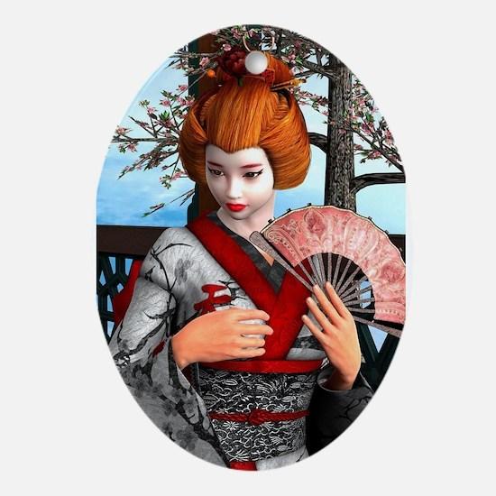 Geisha Ornament (Oval)