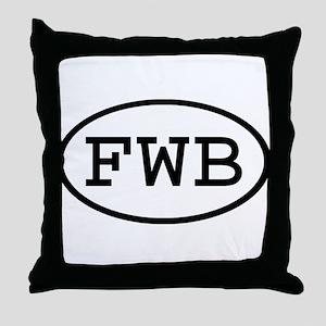 FWB Oval Throw Pillow