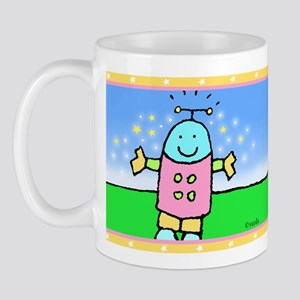 Happy Robot Guy Mug Mugs