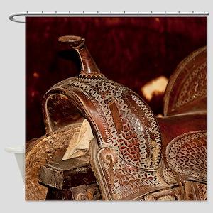 Old Saddle Shower Curtain