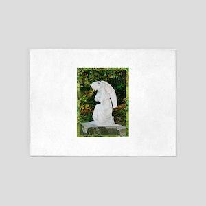 Angel, Tranquil, meditative, photo! 5'x7'Area Rug