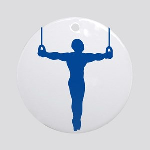 Rings Gymnast Ornament (Round)