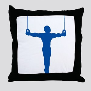 Rings Gymnast Throw Pillow