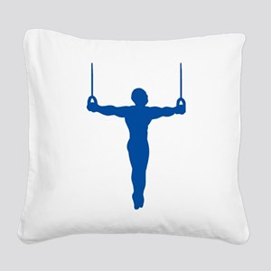Rings Gymnast Square Canvas Pillow